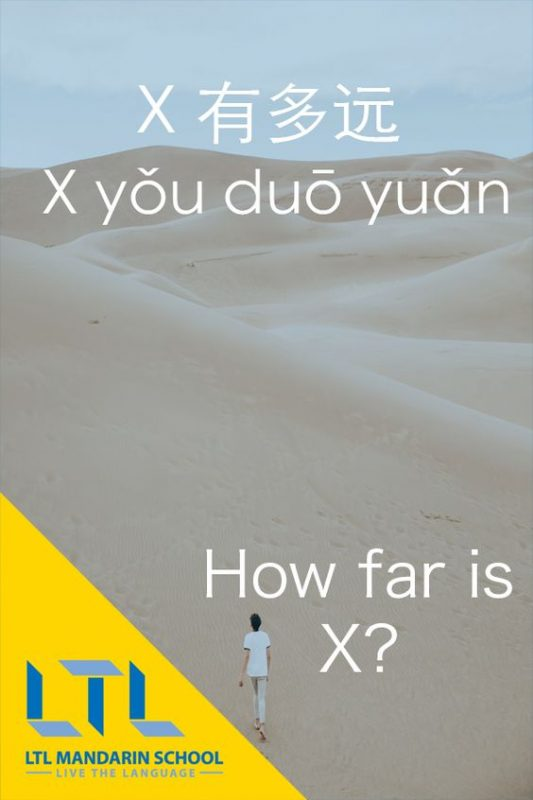 Basic Chinese Phrases - How far is...