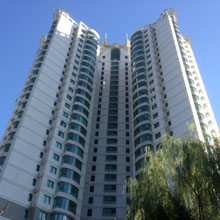 Typical apartment buildings in China